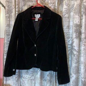 ♥️ VINTAGE Genuine Suede Leather Black Jacket